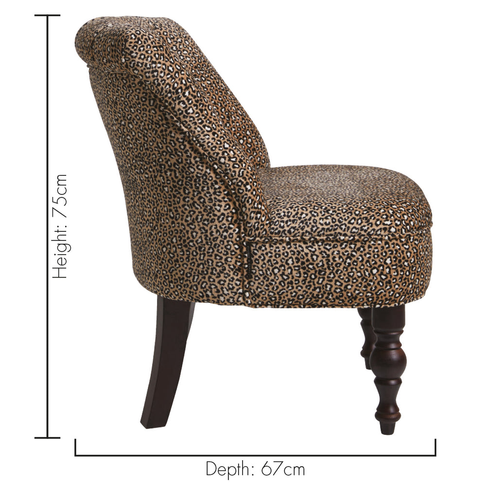 Clarke & Clarke Odette Ocelot Ebony Designer Accent Chair - Your 4 Walls