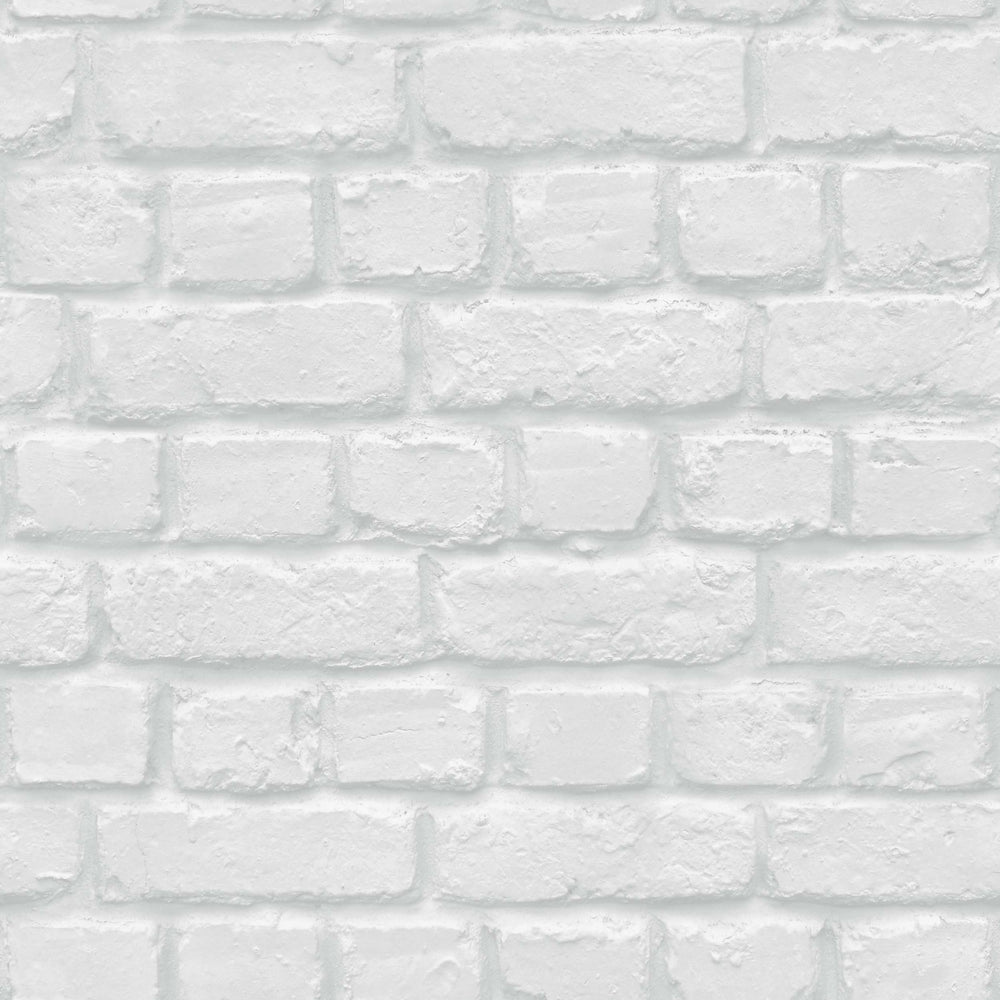 Accessorize Camden Brick Wallpaper in White/Grey - Your 4 Walls
