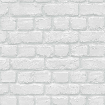 Accessorize Camden White Grey Brick Wallpaper - Your 4 Walls