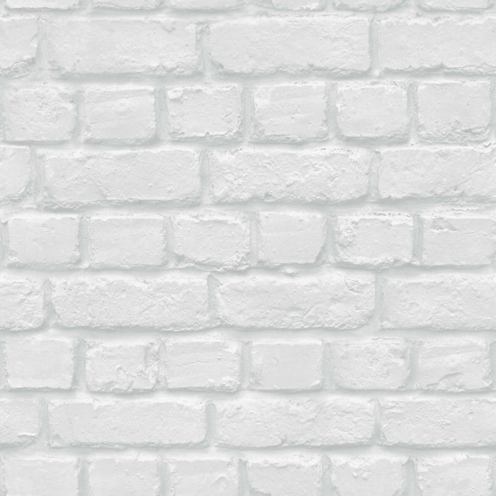 Camden Brick Accessorize Wallpaper | White/Grey