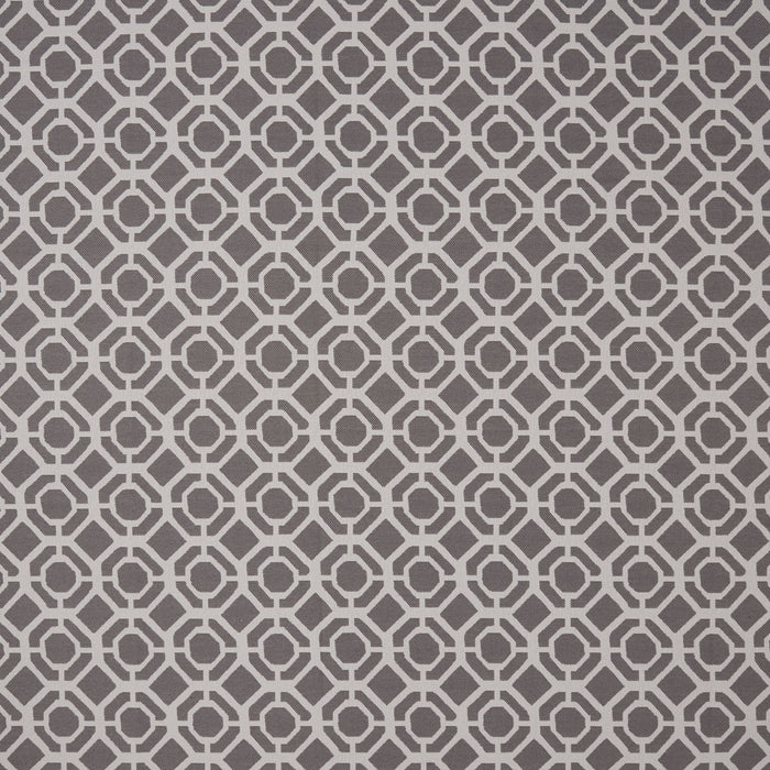 Clarke & Clarke 'Castello' Designer Curtains | Charcoal Two Toned Geometric Design