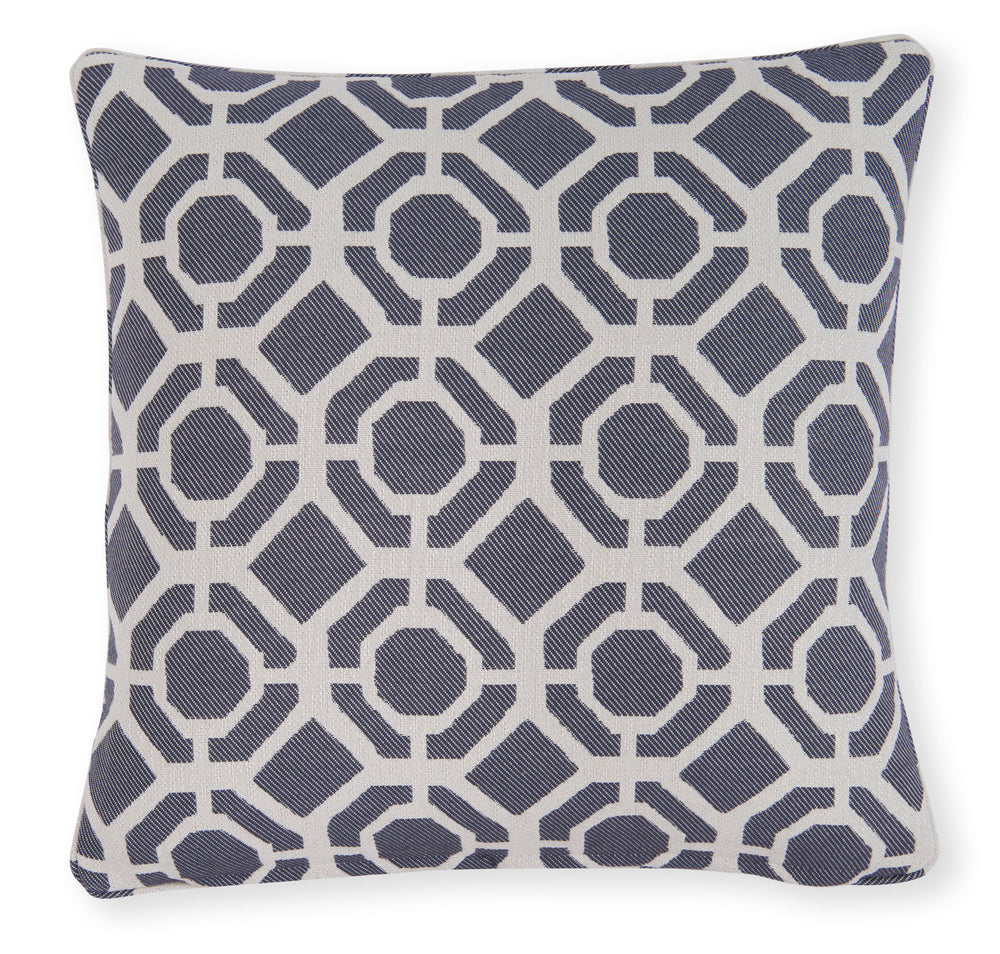 Clarke & Clarke Designer 'Castello' Cushion | Indigo Two Tone Geometric Design - Your 4 Walls