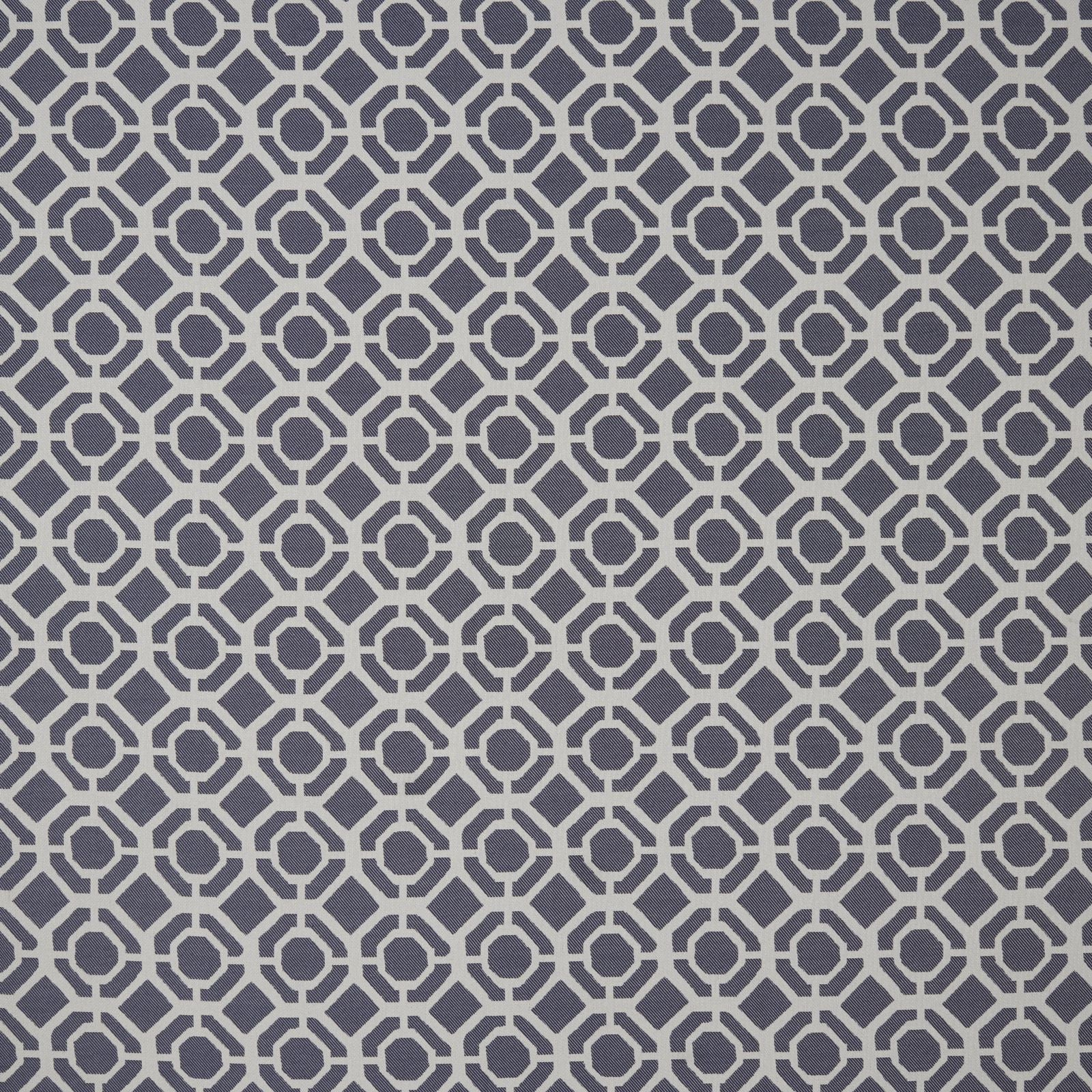 Clarke & Clarke Designer 'Castello' Cushion | Indigo Two Tone Geometric Design