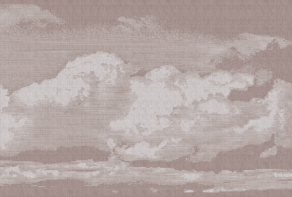 Clouds Wallpaper Mural Pink and White - Your 4 Walls