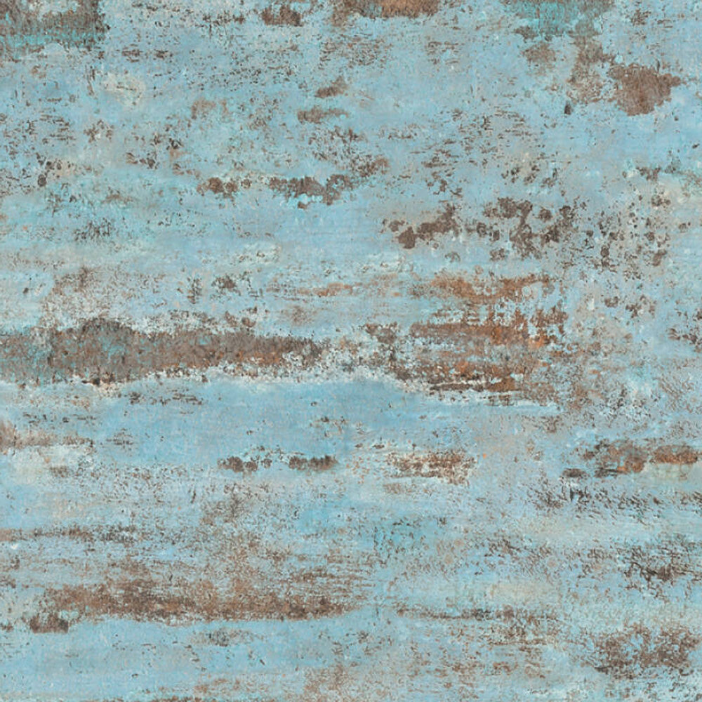 Textured Concrete & Plaster Effect Wallpaper in Blue & Brown - Your 4 Walls