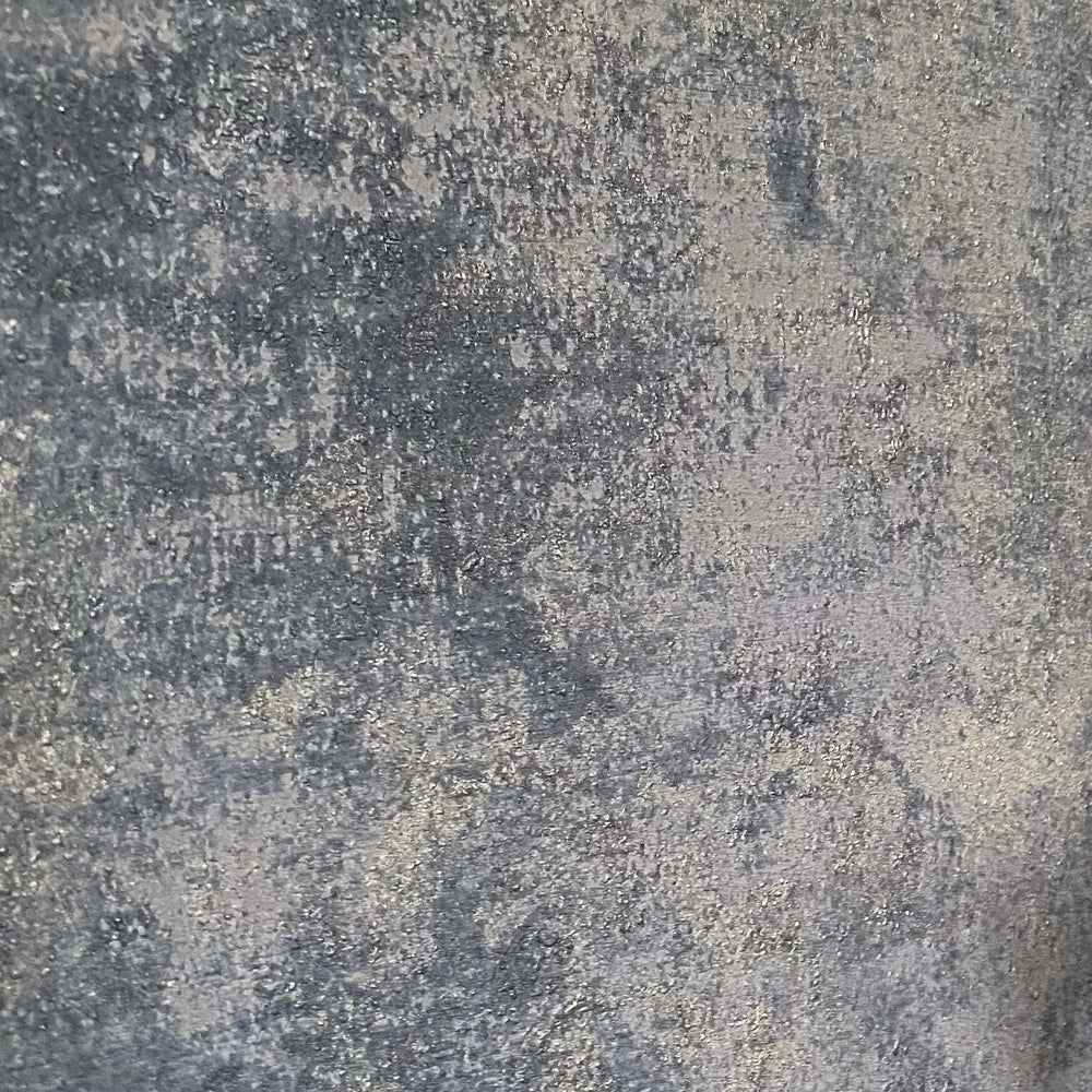 Textured Concrete Effect Wallpaper in  Blue & Silver Grey