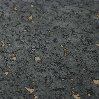 Cork Effect Wallpaper in Charcoal Black & Gold - Your 4 Walls