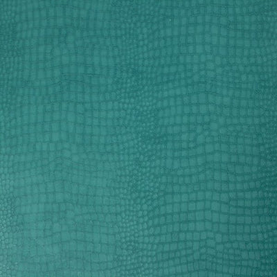 Matt Teal Small Crocodile Skin Effect Wallpaper - Your 4 Walls