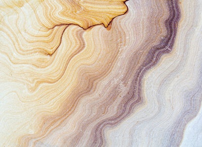 Marble /Agate Wallpaper Mural in Yellow, Blue, Brown, Orange & Purple - Your 4 Walls