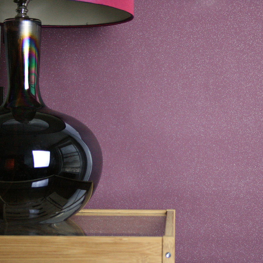Dazzle Glitter Sparkle Effect Wallpaper in Purple/Violet - Your 4 Walls
