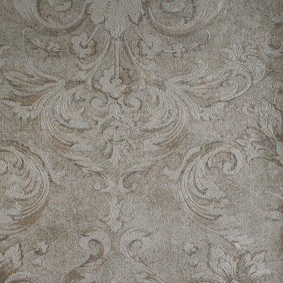 Versace Noble Damask & Stripe Wallpaper in Cream & Beige Tones LAST ROLL - Your 4 Walls