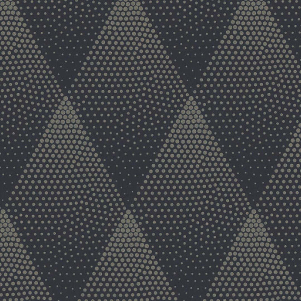 Spotty Diamond Glitter Geometric Wallpaper in Black & Gold - Your 4 Walls