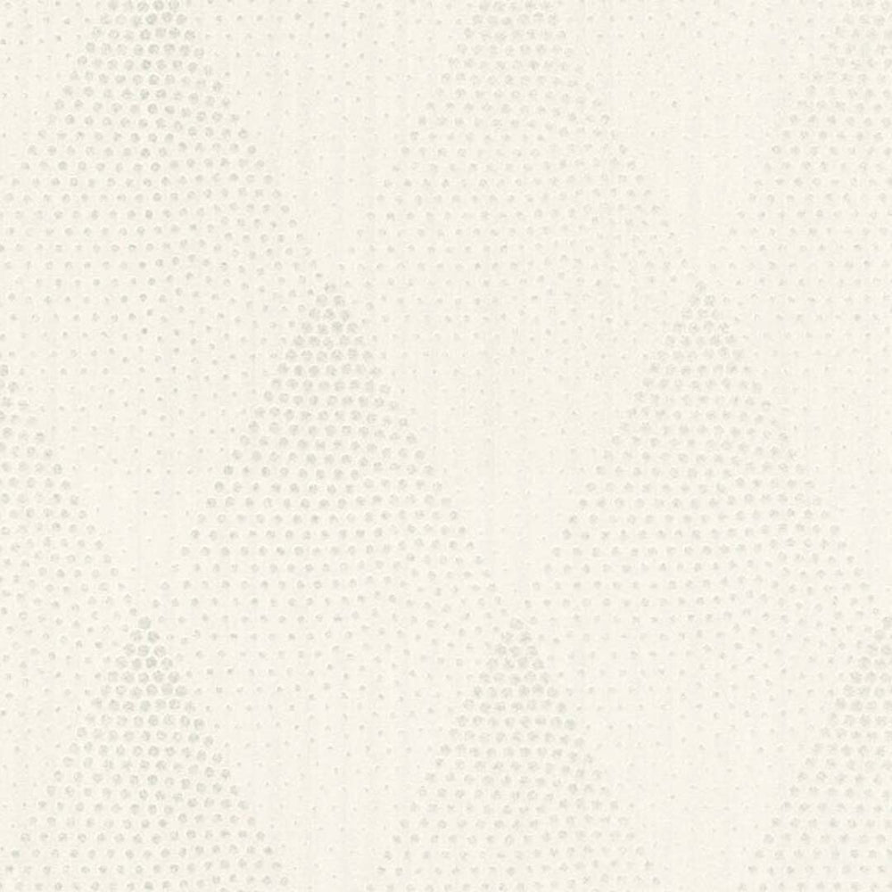 Spotty Diamond Glitter Geometric Wallpaper in White & Silver - Your 4 Walls