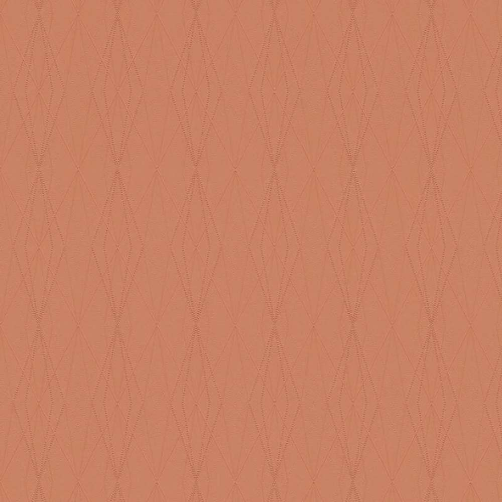 Architectural Diamond Geometric Wallpaper | Coral Pink Orange - Your 4 Walls