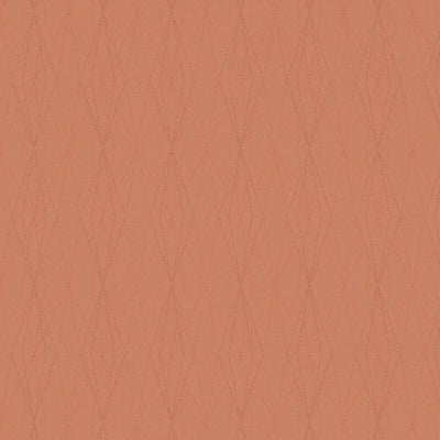 Architectural Diamond Geometric Wallpaper in Coral Orange - Your 4 Walls