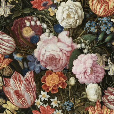 ''Dutch Flowers' Wallpaper in Mixed Colours - Your 4 Walls