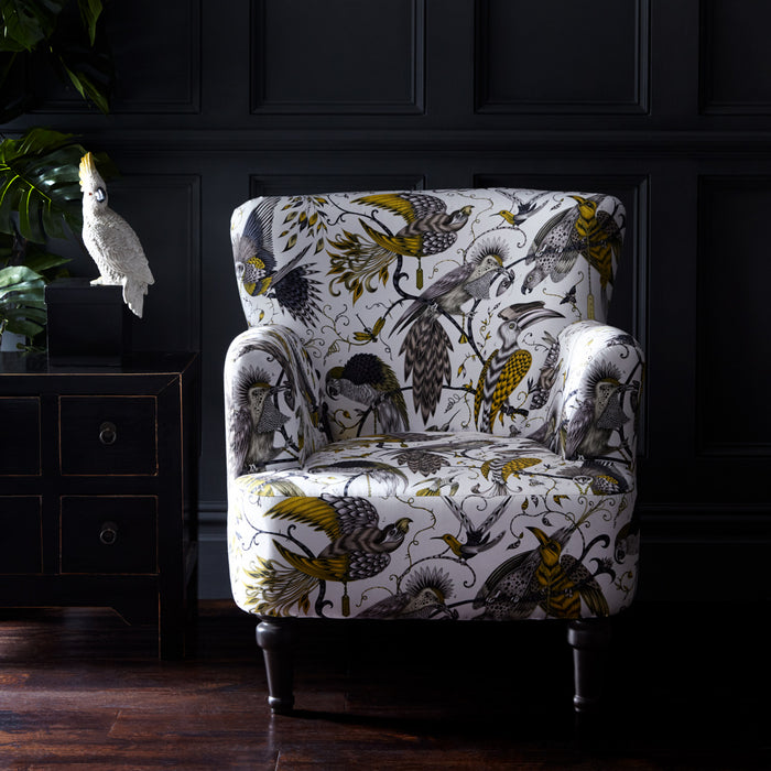 Emma J Shipley Dalston Audubon Gold Designer Accent Chair | Special Introductory Price