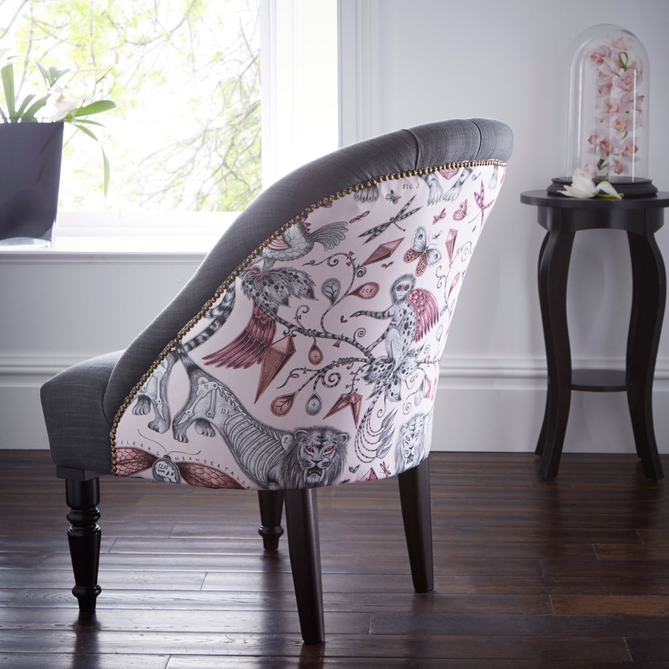 Emma J Shipley Soho Extinct Pink Designer Accent Chair | Special Introductory Price