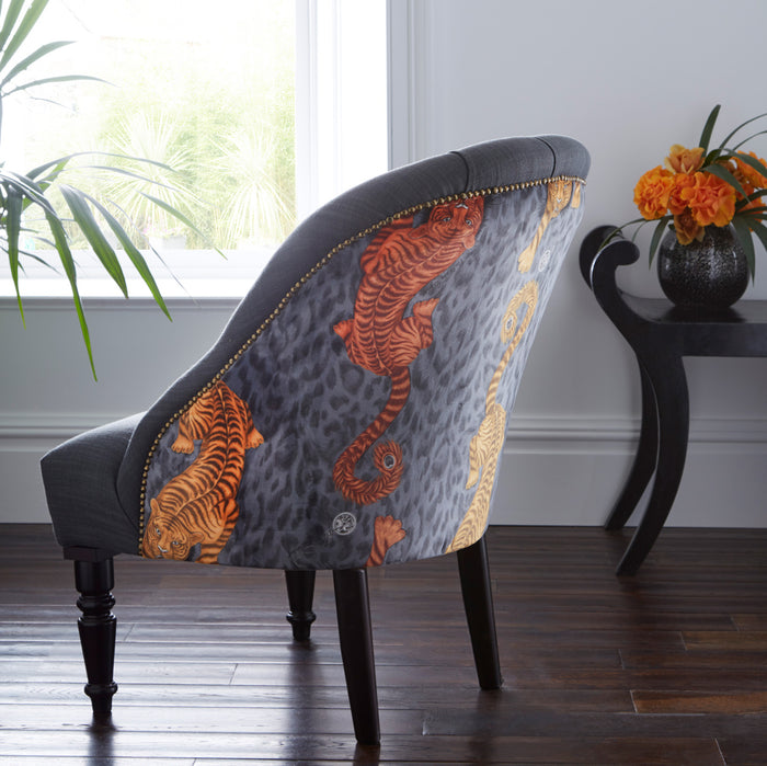 Emma J Shipley Soho Tigris Flame Designer Accent Chair | Special Introductory Price