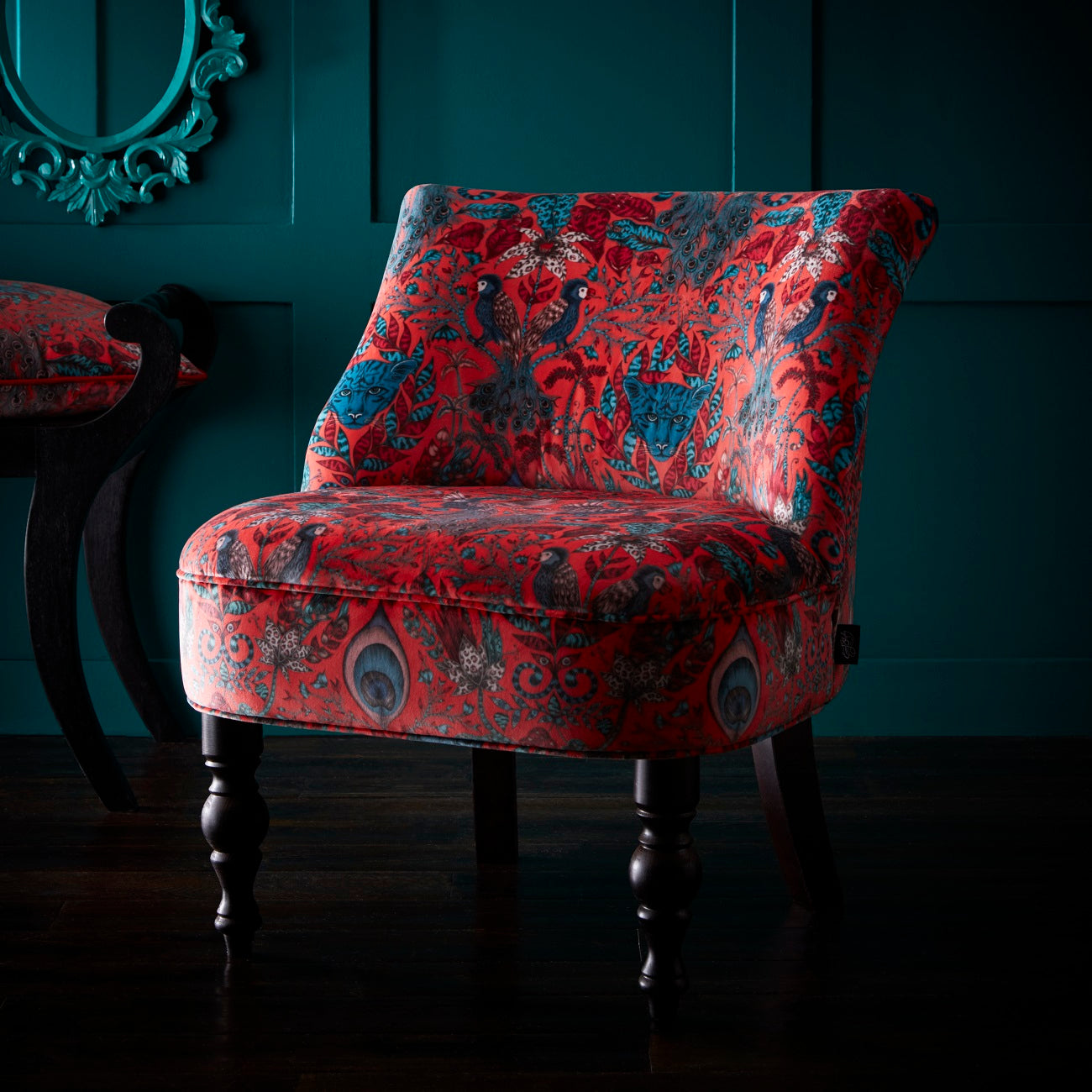 Amozon Accent Chairs.Emma Shipley Langley Amazon Red Designer Accent Chair
