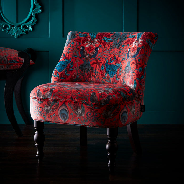 Emma Shipley Langley - Amazon Red Designer Accent Chair