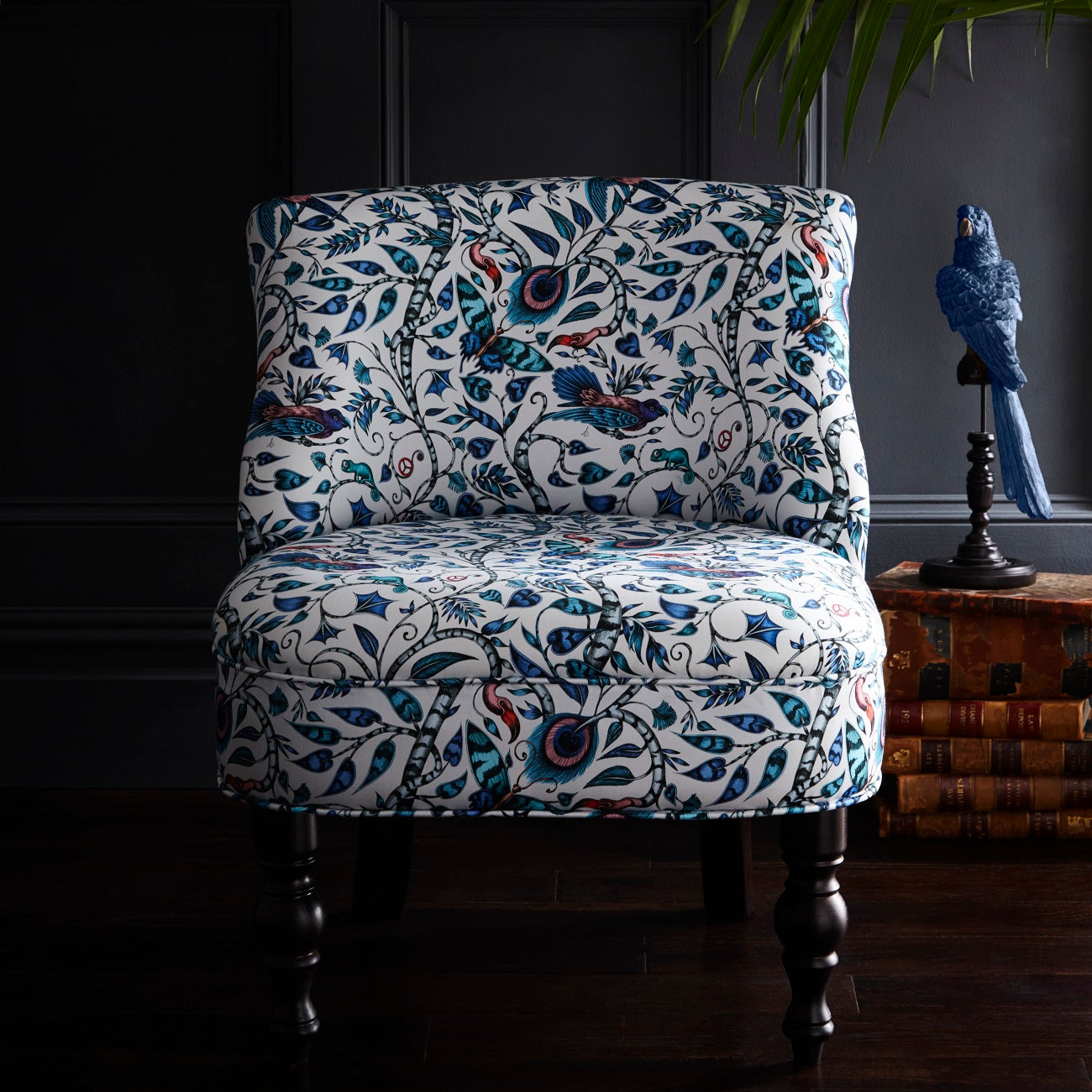 Emma Shipley Langley - Rousseau Blue Designer Accent Chair