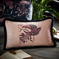 Emma Shipley Designer 'Audubon' Bird Animal Cushion | Pink