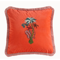 Emma Shipley Designer 'Jungle Palms' Cushion | Coral
