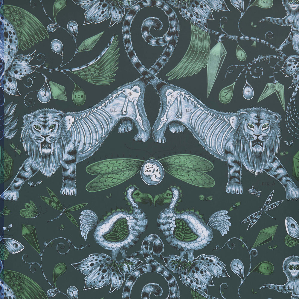 Extinct wallpaper by Designer Emma J Shipley Animalia | Navy - Your 4 Walls