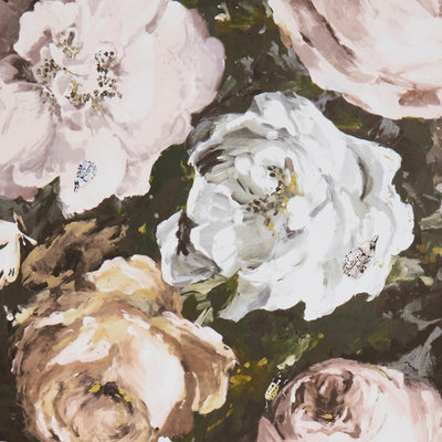 Floretta Clarke and Clarke Designer Floral Wallpaper | Blush Pink, White & Charcoal - Your 4 Walls