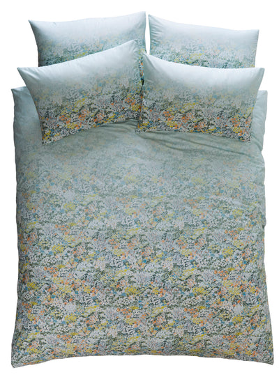 Oasis 'Floral Ombre' Designer Floral & Bird Bedding Duvet Set | Seafoam Green, Yellow & Green - Your 4 Walls