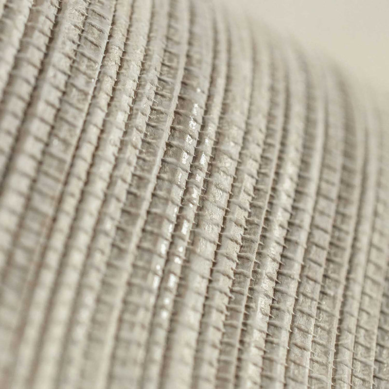 Grasscloth Effect | Metallic  & Cream Taupe Wallpaper - Your 4 Walls