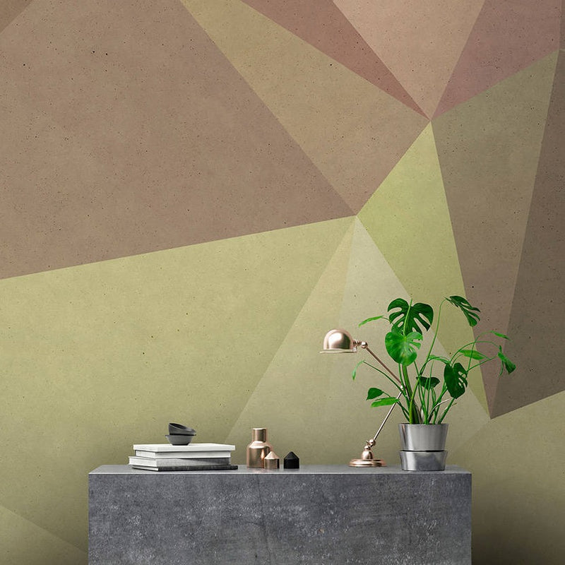 Geometric Wallpaper Mural in Brown Tones - Your 4 Walls