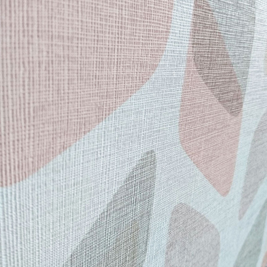Geometric Textured Wallpaper | Pink, Charcoal, Beige & White