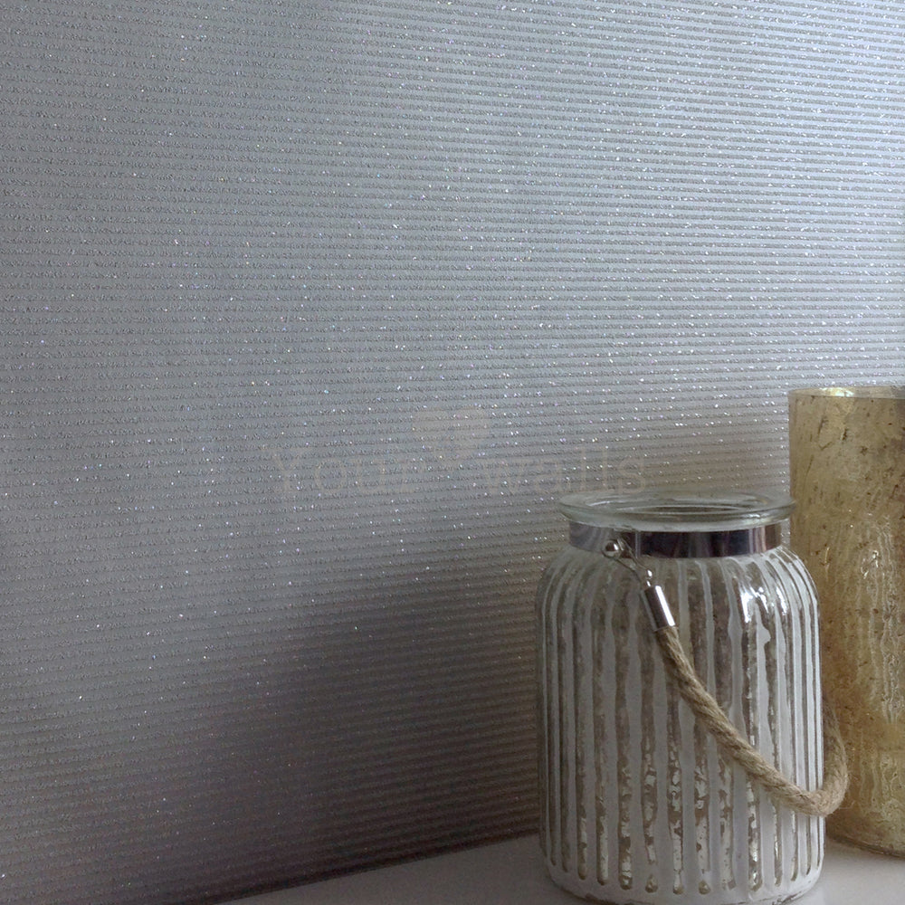 LAST ROLL Glitter Gravel Wallpaper | Grey - Your 4 Walls
