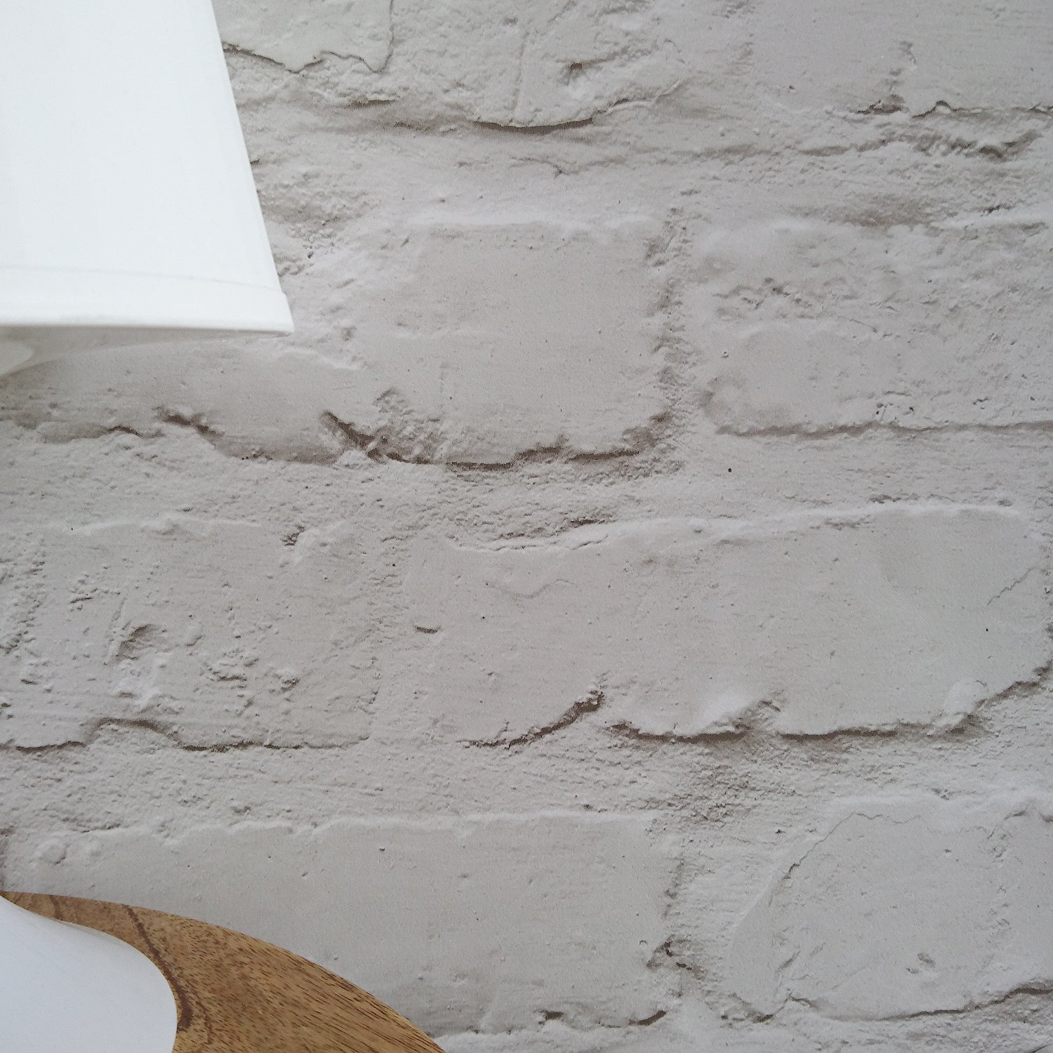 Loft Brickhouse Brick Effect Wallpaper | White/Grey