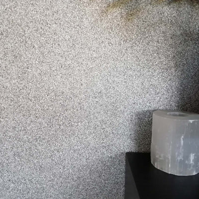 Mineral Stones Effect Textured Wallpaper  | Graphite, Grey & Silver - Your 4 Walls