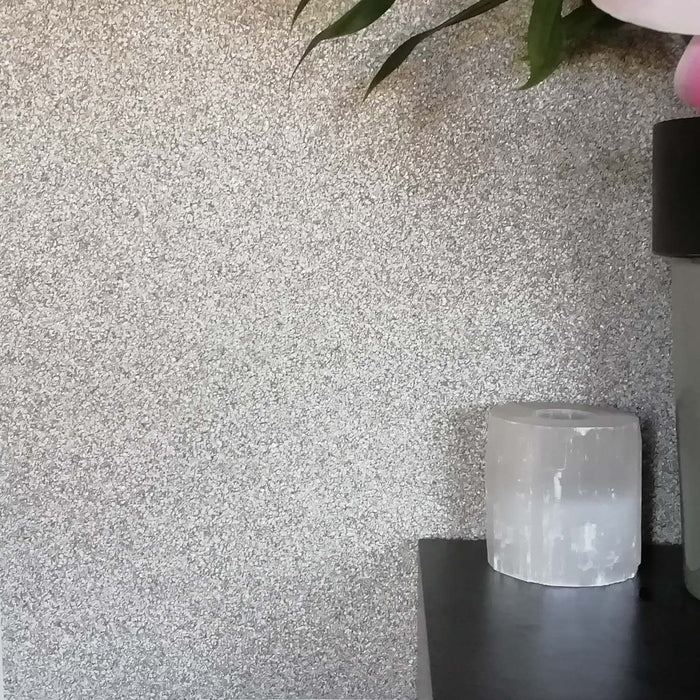 Mineral Stones Effect Textured Wallpaper  | Graphite, Grey & Silver