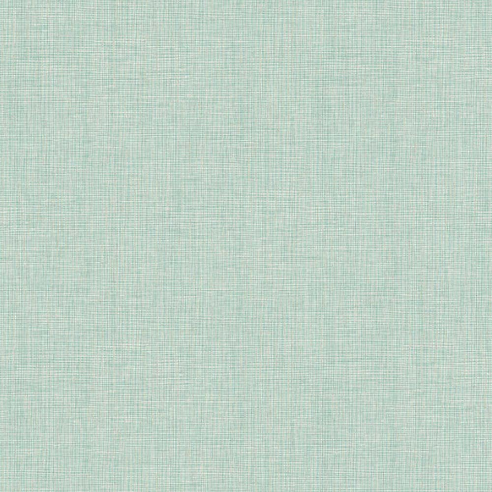 Grasscloth Effect Wallpaper Duck Egg Blue and Silver - Your 4 Walls