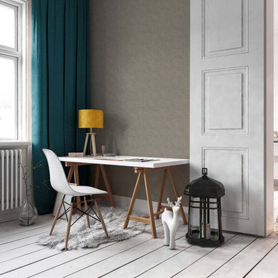 Grasscloth Effect Wallpaper Grey, Black and Gold - Your 4 Walls