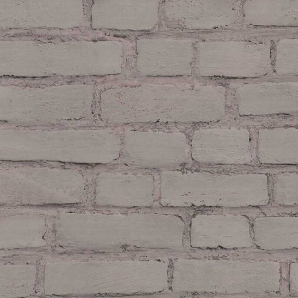 Grey Painted Brick Effect Wallpaper - Your 4 Walls