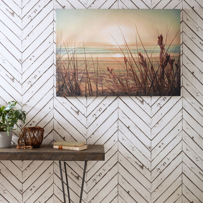 Reclaimed Herringbone Parquet Wood Effect Wallpaper in White and Grey - Your 4 Walls
