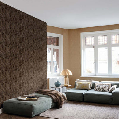 Pheasant Feather Animal Motif Wallpaper in Light Brown with Dark Brown - Your 4 Walls