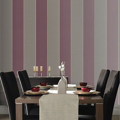 SALE Imperial Stripe in Purple and Grey - Your 4 Walls