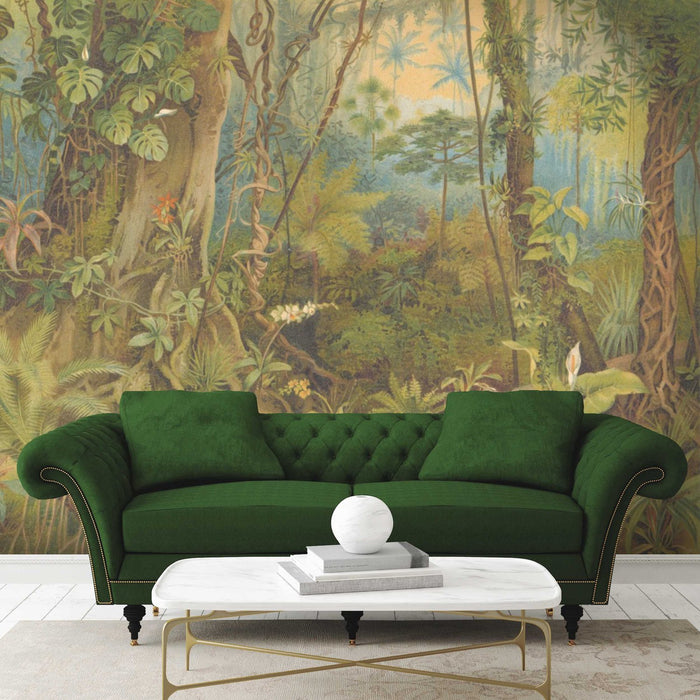 Paradise Jungle Wallpaper Mural in Green