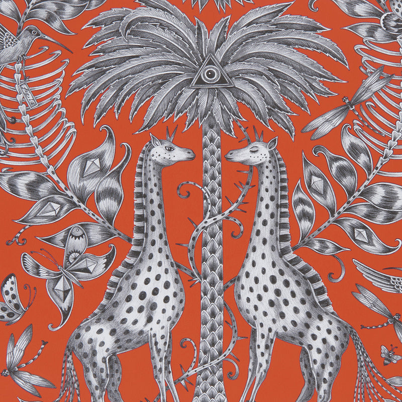 Kruger wallpaper by Designer Emma J Shipley Animalia | Flame - Your 4 Walls