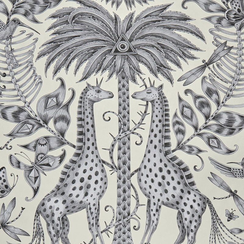 Kruger wallpaper by Designer Emma J Shipley Animalia | Gold and Monochrome - Your 4 Walls