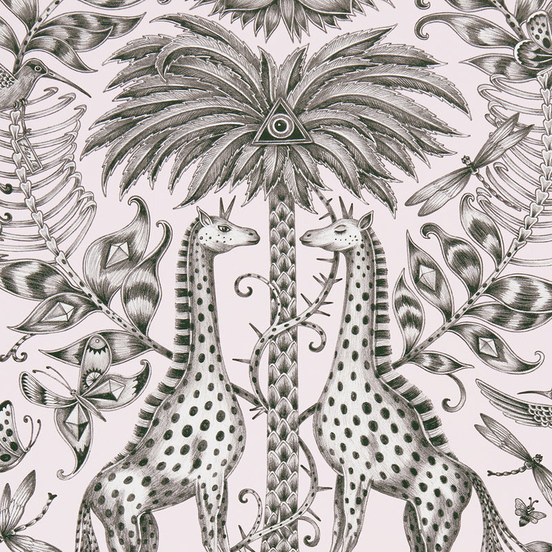 Kruger wallpaper by Designer Emma J Shipley Animalia | Pink - Your 4 Walls