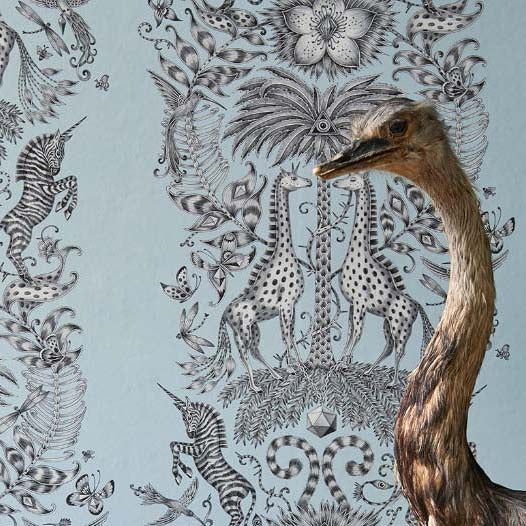 Kruger wallpaper by Designer Emma J Shipley Animalia | Eggshell - Your 4 Walls
