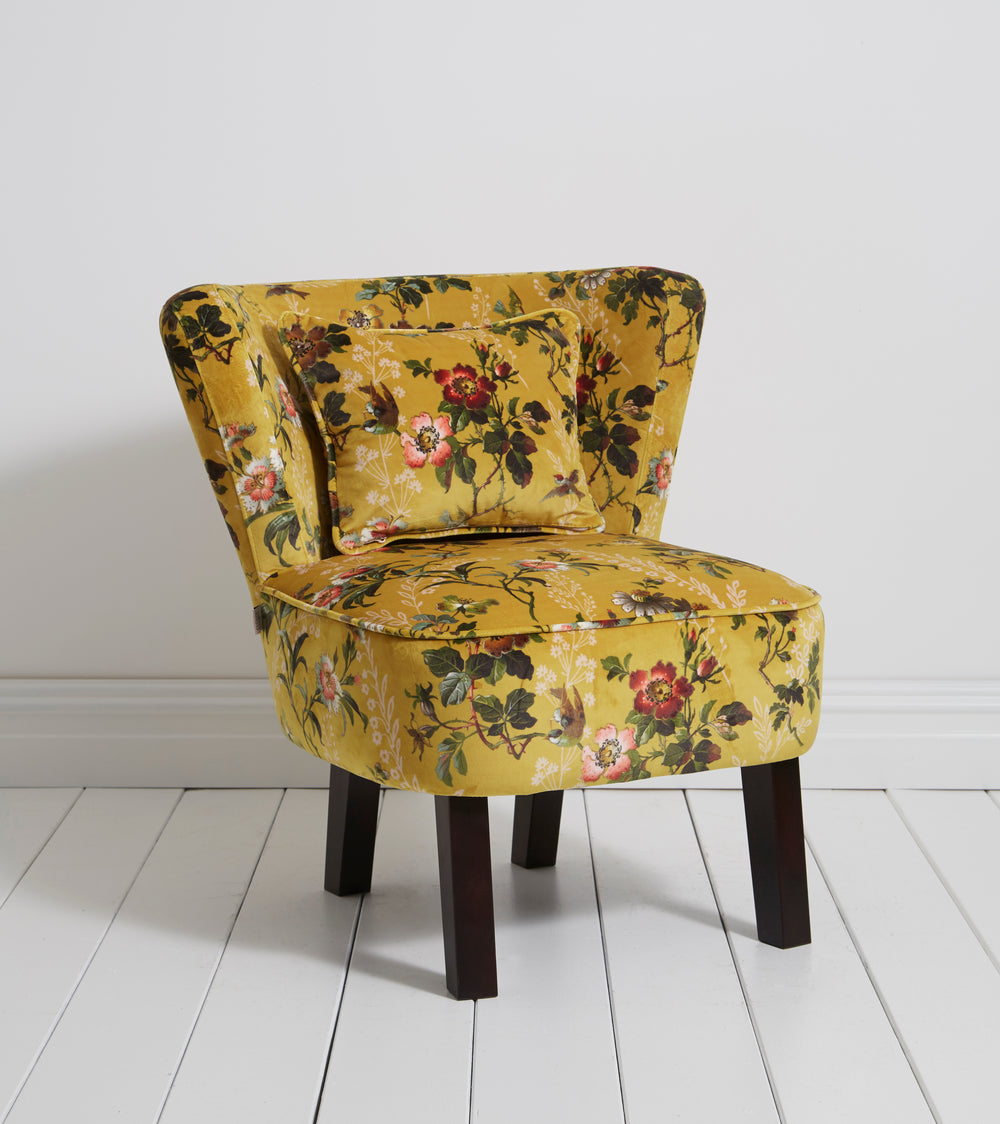 Oasis Monika Leighton Ochre Designer Accent Chair - Your 4 Walls